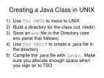 creating a java class in unix