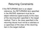 returning constraints29
