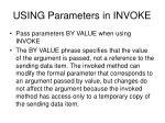 using parameters in invoke
