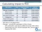 calculating impact roi