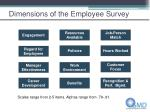 dimensions of the employee survey