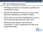 hr and measurement