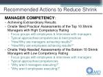 recommended actions to reduce shrink