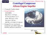 centrifugal compressor allison engine impeller