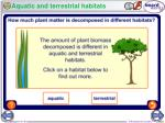 aquatic and terrestrial habitats