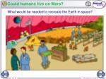 could humans live on mars