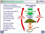 how is carbon recycled