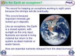 is the earth an ecosphere