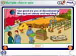 multiple choice quiz