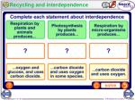 recycling and interdependence
