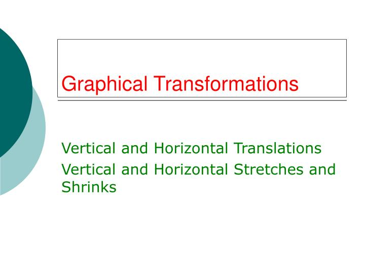 graphical transformations n.