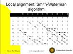 local alignment smith waterman algorithm14