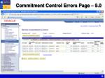 commitment control errors page 9 0