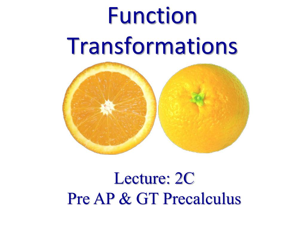 function transformations l.