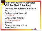 personnel hazards associated with arc flash arc blast16