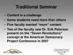 traditional seminar