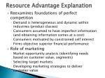 resource advantage explanation