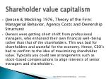 shareholder value capitalism