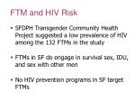 ftm and hiv risk