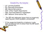disability acronyms