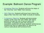 example ballroom dance program