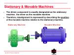 stationary movable machines