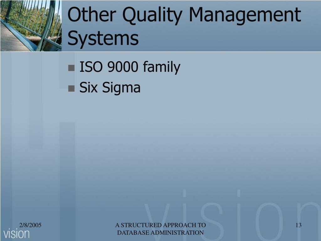 Other Quality Management Systems