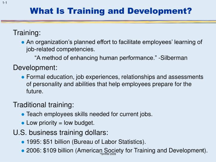 what is training and development n.