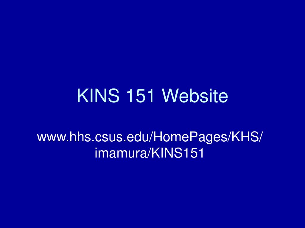 kins 151 website l.