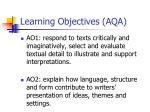 learning objectives aqa