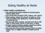 eating healthy at home
