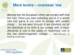 more levers overseas law