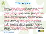 types of plant