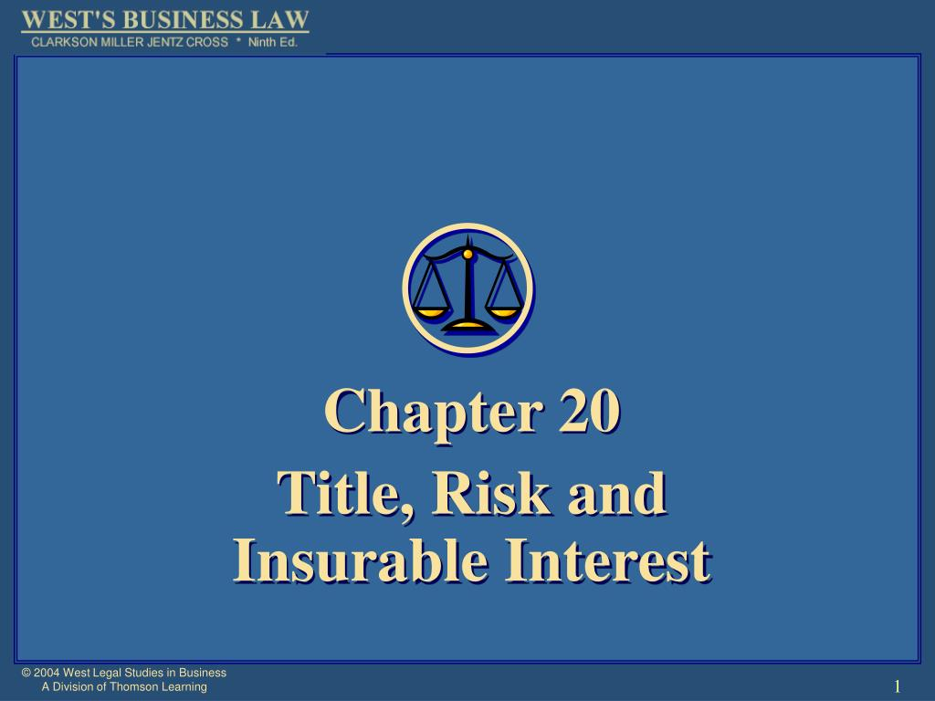 chapter 20 title risk and insurable interest l.