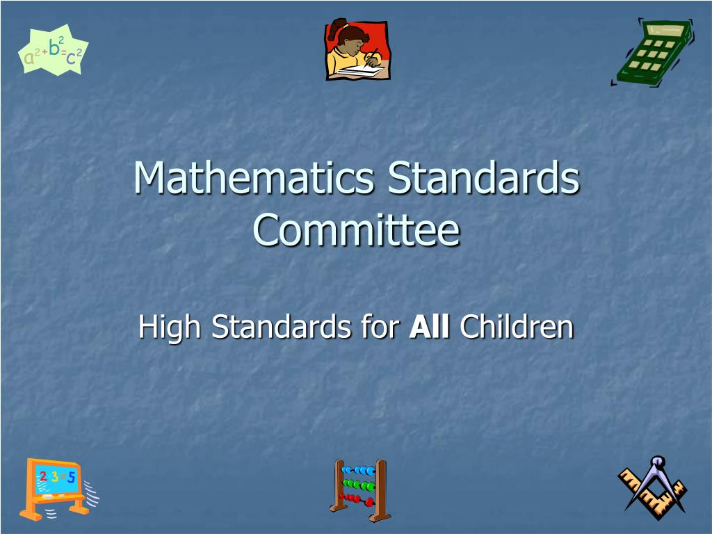 mathematics standards committee l.