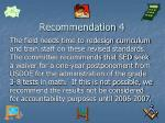 recommendation 4