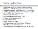 following the law7