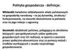 polityka gospodarcza definicje