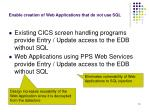 enable creation of web applications that do not use sql