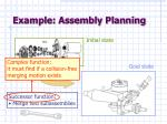 example assembly planning