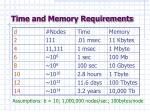 time and memory requirements