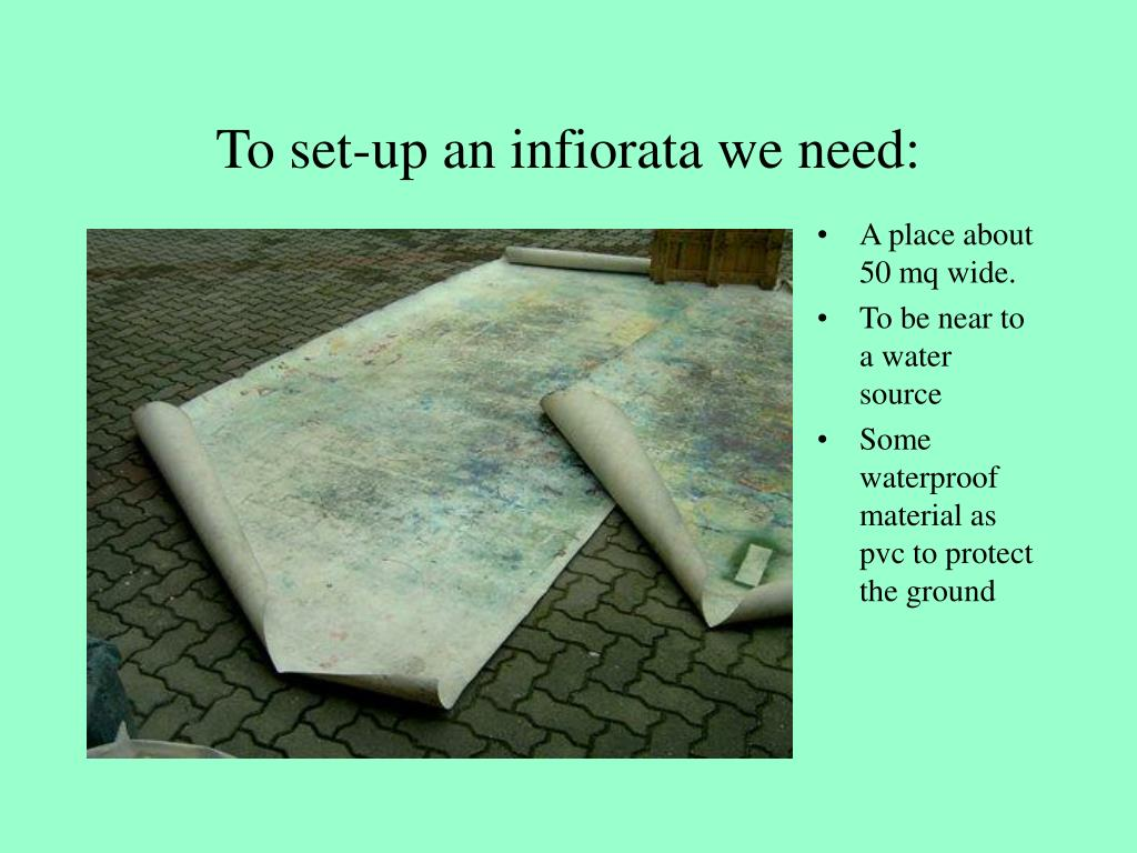 to set up an infiorata we need l.