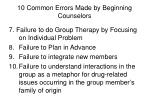 10 common errors made by beginning counselors33