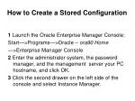 how to create a stored configuration