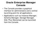 oracle enterprise manager console