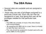 the dba roles