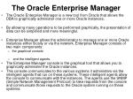 the oracle enterprise manager