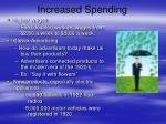 increased spending