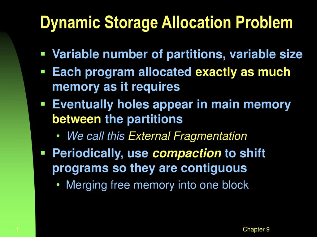 dynamic storage allocation problem l.