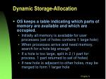 dynamic storage allocation
